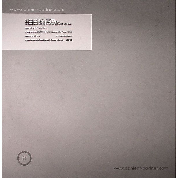 RUSSELL HASWELL / REGIS/ WILLIAM BENNETT - Chua Rave / Harsging Rmxs (Back)