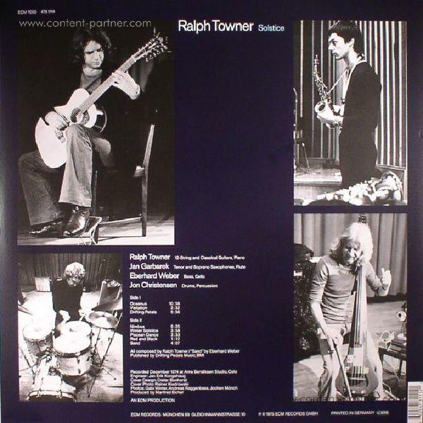 Ralph Towner - Solstice (LP) (Back)