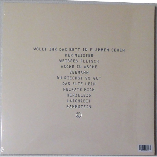 Rammstein - Herzeleid (Ltd. XXV Anniv. Eidtion 2LP) (Back)