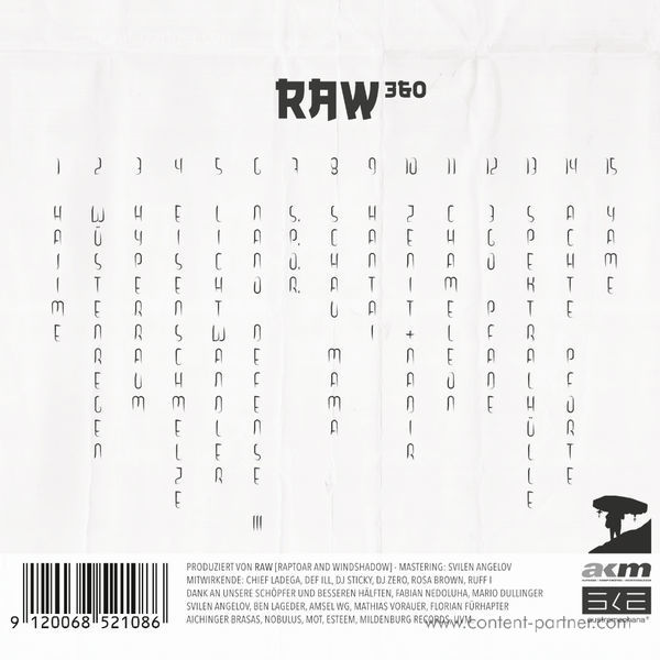 Raptoar & Windshadow (RAW) - 360 (Back)