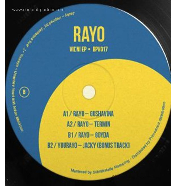 Rayo - Vil'ni EP (Back)