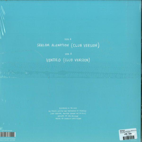 Redrago - Shalom Alanation / Ventilo (club Version) (Back)