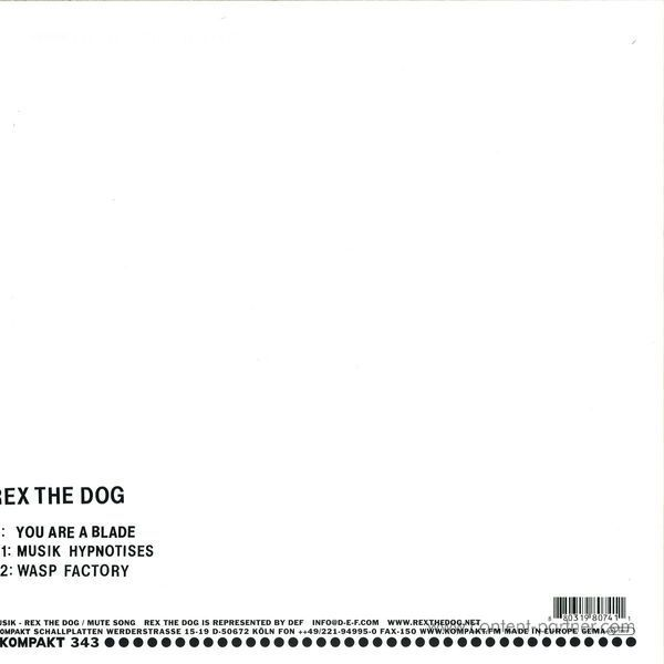 Rex The Dog - You Are A Blade (Repressed) (Back)
