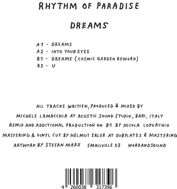 Rhythm Of Paradise - Dreams (Back)