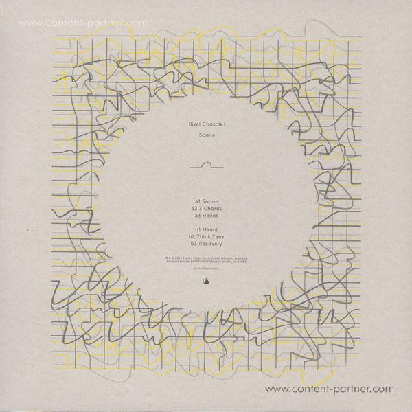 Rival Consoles - Sonne (Yellow Vinyl) (Back)