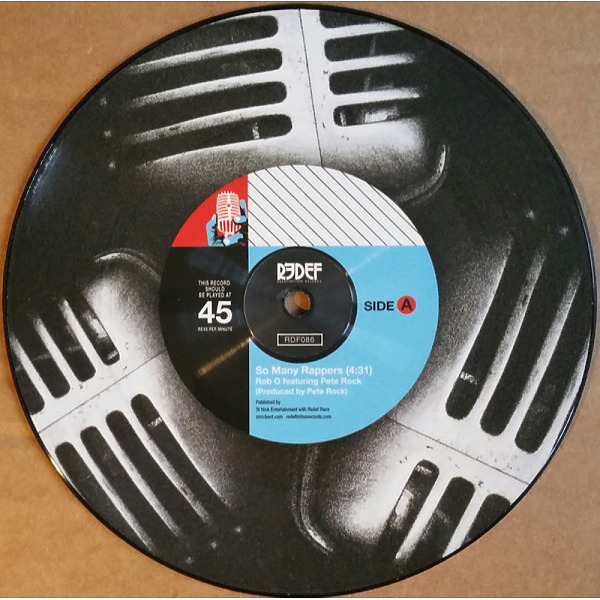 """Rob O & Pete Rock - So Many Rappers (Ltd. 7"""" Pic. Disc) (Back)"""