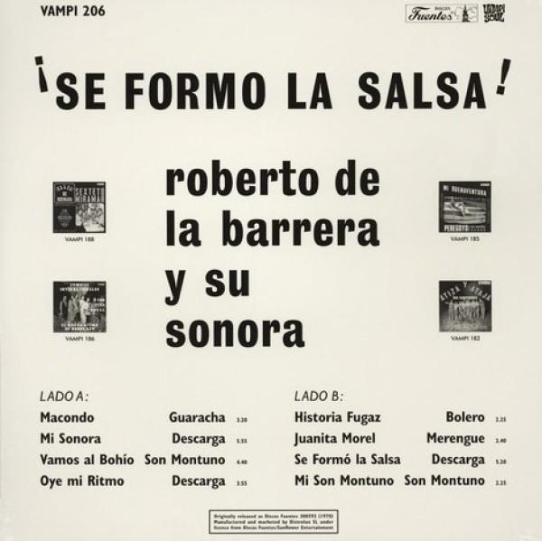 Roberto De La Barrera Y Su Sonora - Se Formo La Salsa (180g Reissue) (Back)