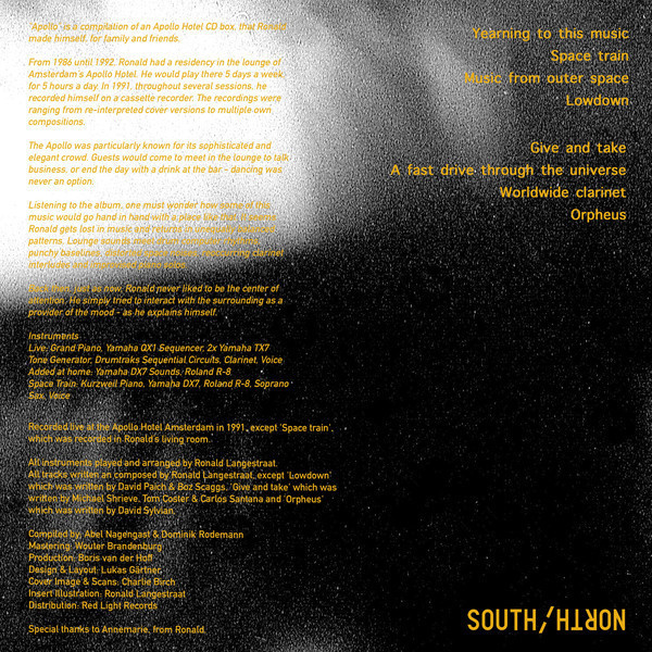 Ronald Langestraat - Apollo (Vinyl LP) (Back)