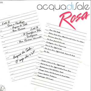 Rosa - Acqua Di Sale (Back)