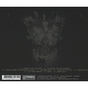 Ruins - Place Of No Pity (Back)
