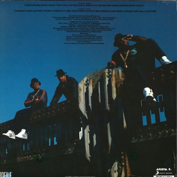 Run DMC - Tougher Than Leather (LP reissue) (Back)