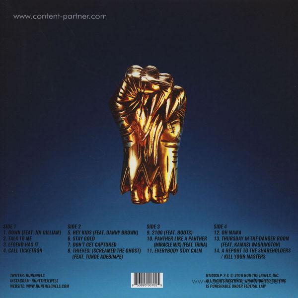 Run The Jewels (El-P & Killer Mike) - Run The Jewels 3 (Back)