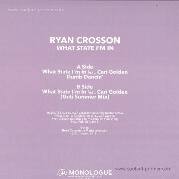 Ryan Crosson - What State I'm in (Back)