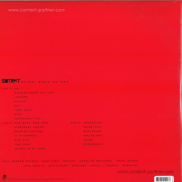 SBTRKT - Wonder Where We Land (Deluxe, last copy) (Back)