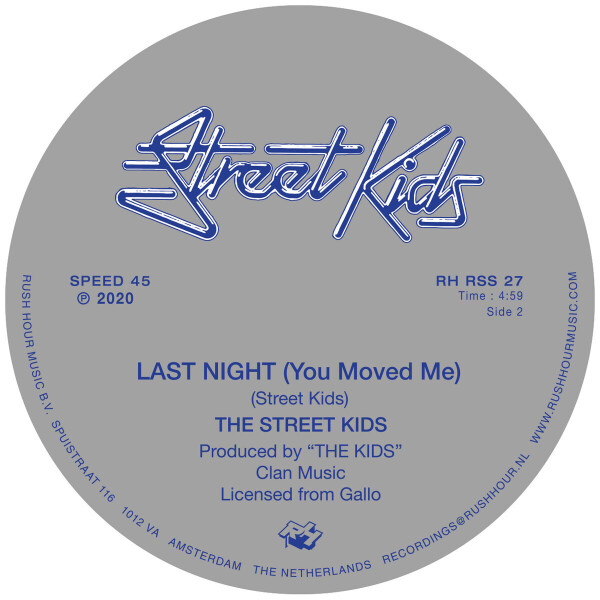 STREET KIDS - GAME NO. 1 / LAST NIGHT (YOU MOVED ME) (Back)