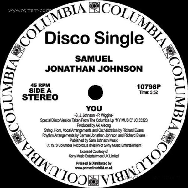 Samuel Jonathan Johnson - You / My Music (Back)