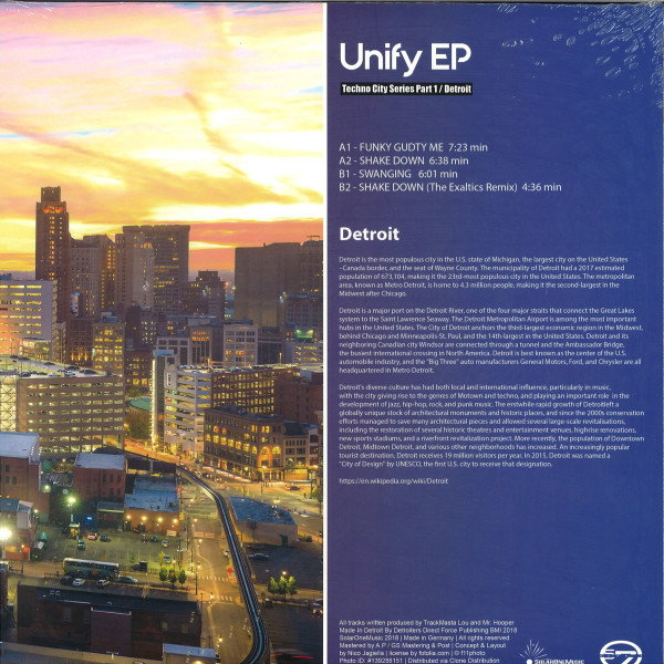 Scan 7 - Unify EP (Techno City Series Part 1 / Detroit) (Back)