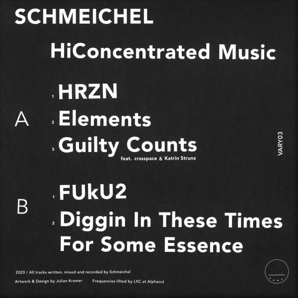 Schmeichel - HiConcentrated Music (Back)