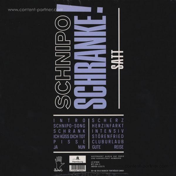 Schnipo Schranke - Satt (Back)