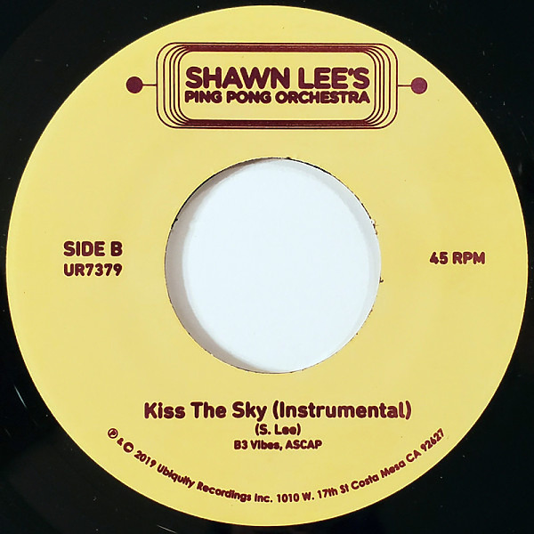"Shawn Lee - Kiss the Sky (7"") (Back)"