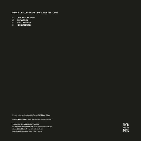 Shdw & Obscure Shape - Die Zunge Des Todes EP (Back)
