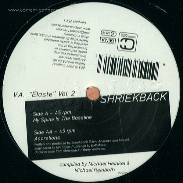 Shriek Back - Elaste Vol. 2 EP (Back)
