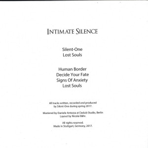 Silent-one - Lost Souls (Back)
