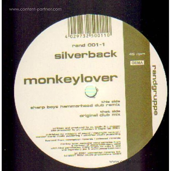 Silverback - Monkeylover (Back)