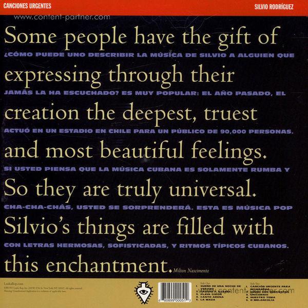 Silvio Rodriguez - Los grandes exitos (LP) (Back)
