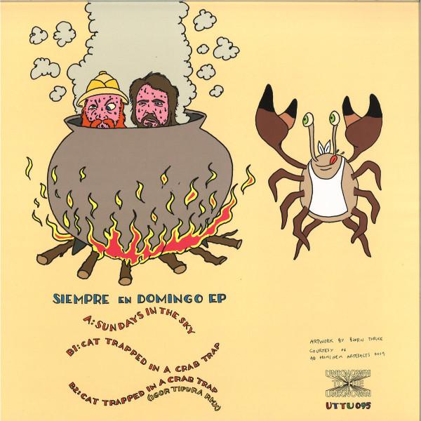 Skatebard & Lauer - Crabsticks - Siempre en Domingo EP (Back)