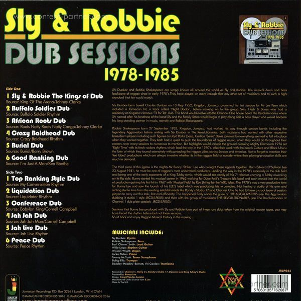 Sly & Robbie - Dub Session 1978-1985 (Back)