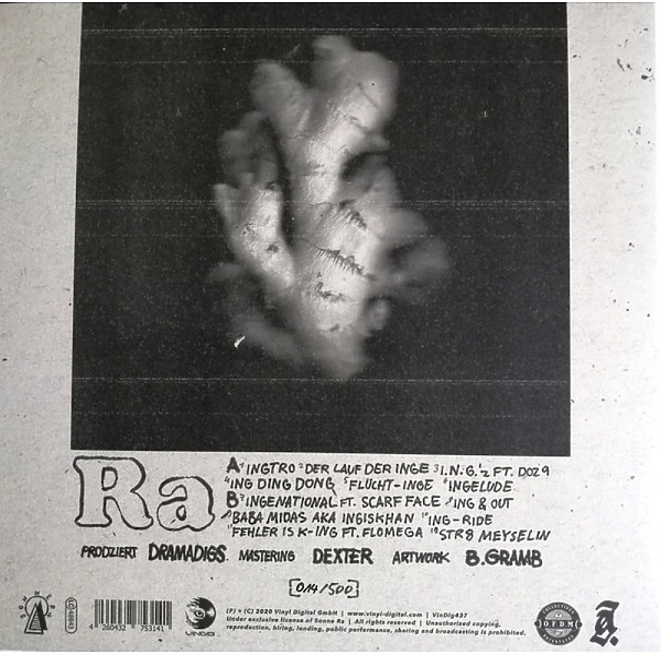 Sonne Ra & Dramadigs - Str8 Inge Inge (2LP / Clear Vinyl) (Back)
