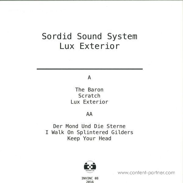 Sordid Sound System - Lux Exterior (Back)