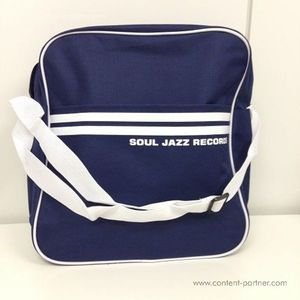 Soul Jazz Records Bag - Classic Navy Blue/White 12""