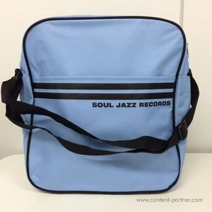 Soul Jazz Records Bag - Powder Blue/Black 12""
