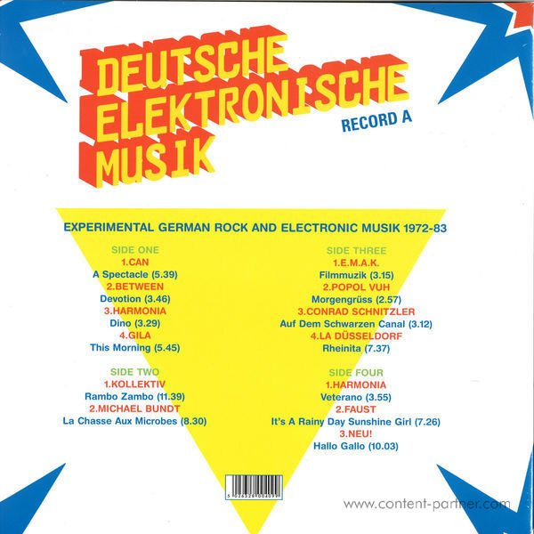 Soul Jazz Records Presents - Deutsche Elektronische Musik - Part A (Back)