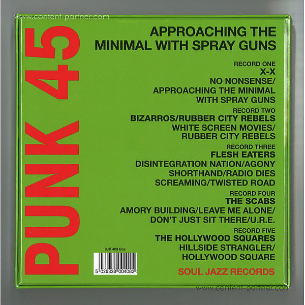 Soul Jazz Records Presents - Punk 45 M Approaching The Minimal With Spray Guns (Back)