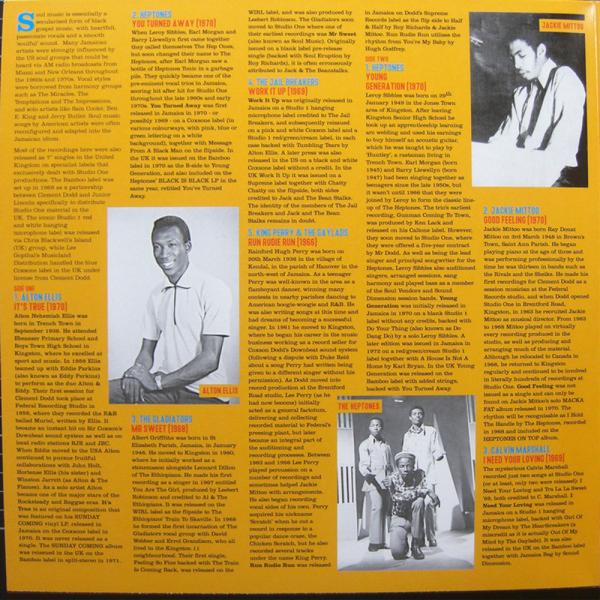 Soul Jazz Records Presents - Rocksteady Got Soul (2LP) (Back)