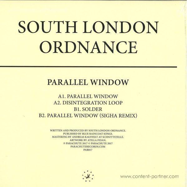 South London Ordnance - Parallel Window (Back)