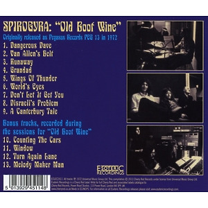 Spirogyra - Old Boot Wine (Expanded+Remastered Ed.) (Back)