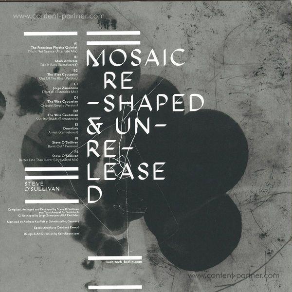 "Steve O'Sullivan - Mosaic Reshaped & Unreleased 3x12"" (Back)"