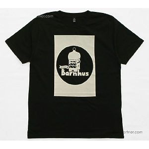 Studio Barnhaus T-shirt - Black With Grey Print On Front -Size M