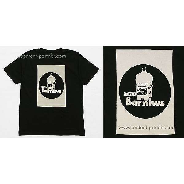 Studio Barnhaus T-shirt - Black With Grey Print On Front -Size M (Back)