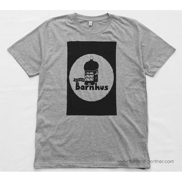 Studio Barnhaus T-shirt - Grey With Black Print On Front - Size S