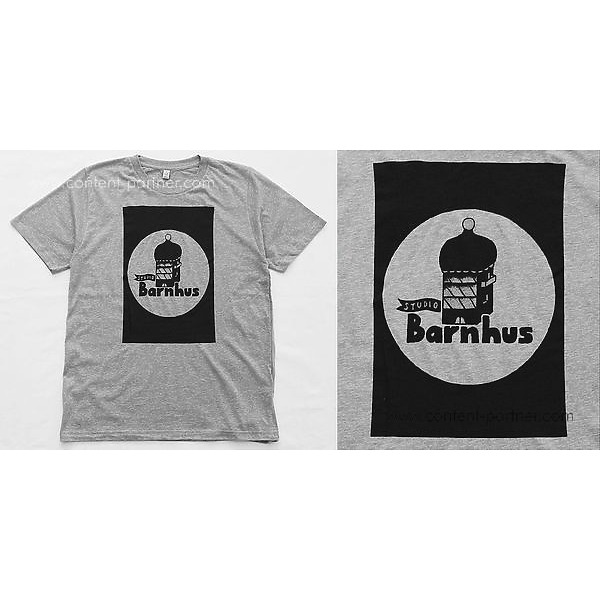 Studio Barnhaus T-shirt - Grey With Black Print On Front - Size S (Back)