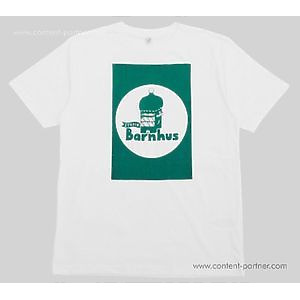 Studio Barnhaus T-shirt - White With Green Print On Front- Size S
