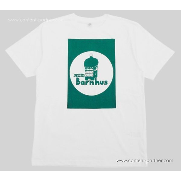 Studio Barnhaus T-shirt - White With Green Print On Front- Size XL