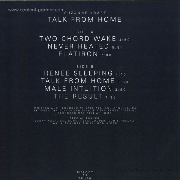 Suzanne Kraft - Talk from Home (Back)