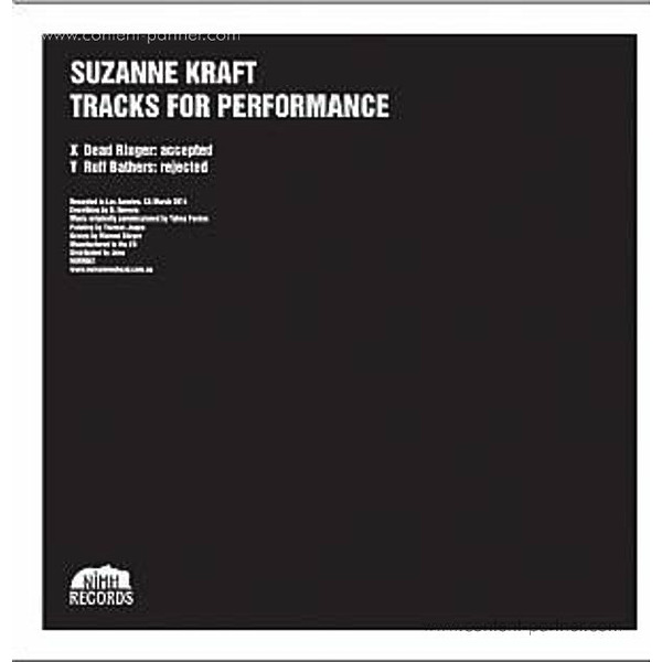 Suzanne Kraft - Tracks For Performance (Back)