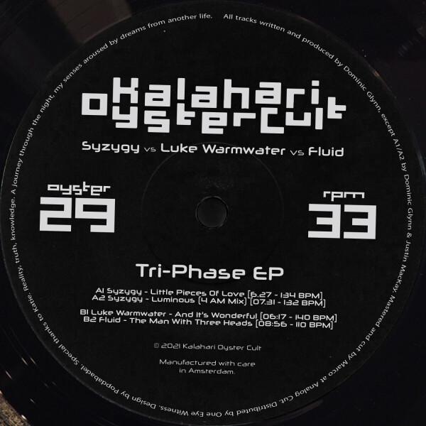 Syzygy & Fluid & Luke Warmwater - The Tri-Phase EP (Back)